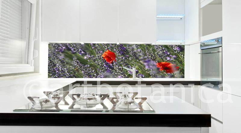 Lavendel kuchenruckwand for Kuchenruckwande ikea