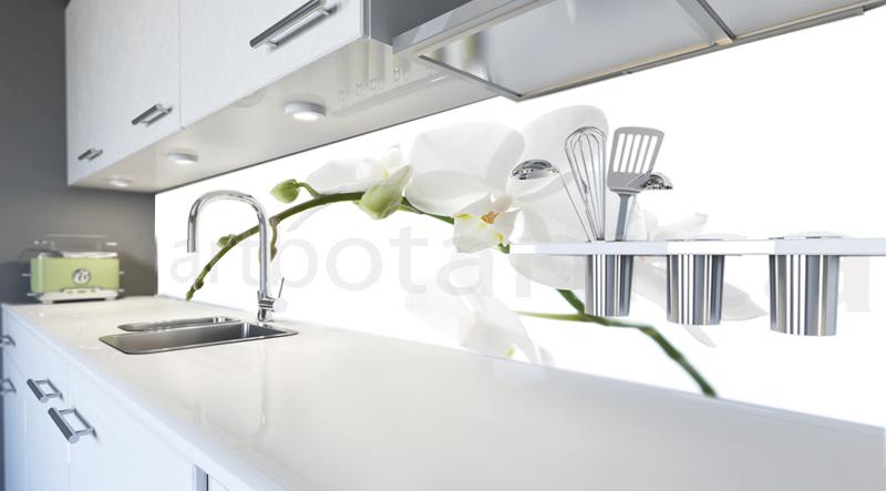 orchideen k chenr ckwand. Black Bedroom Furniture Sets. Home Design Ideas