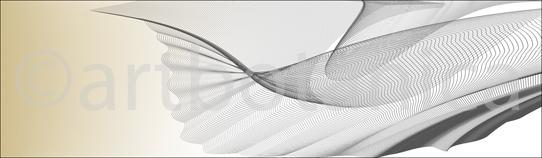 Grafik als Motiv für Küchenrückwand aus Glas